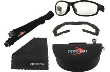 Bobster Convertiable XRH Eyewear with Prescriptional RX Lenses, Black Frame