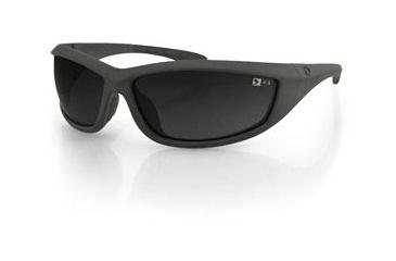 Bobster Zulu Ballistics Eyewear, Foliage Green, Anti-fog Smoked EZUL001G