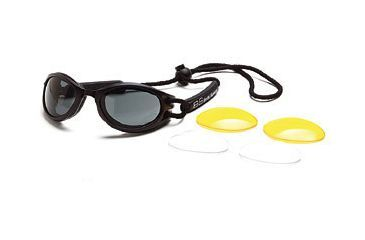 Body Specs BS Cups Goggles w/ Black Frame and Smoke Lenses