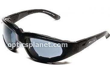 Body Specs BSG-2 Goggles, Black Frame / Smoke-Green Lens, w/ Clear & Light Rust Lens Extra Lens Sets