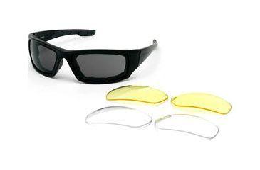 Body Specs BSG-4 Goggles - Shiny Black Frame / Smoke Antifog lens, includes 2 extra lens