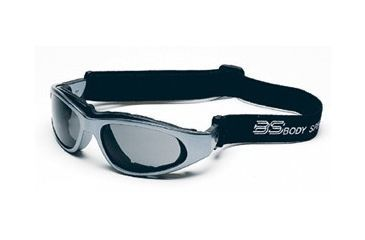 Body Specs BSG-2 Goggles, Silver Chrome Frame/Smoke-Green Lens, w/ Clear and Light Rust Extra Lens Sets
