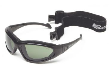 Body Specs Cups II Extreme Sport Goggle, Metallic Black Frame, Grey, Clear, Yellow Lens BS-CUPS-3