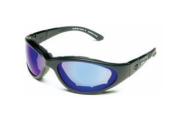 Body Specs Goggles BSG, Black Frame / Blue Mirror Lens and Light Rust & Clear and Extra Lens Set