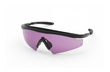 Body Specs Slings Shooting Glasses, Black Frame & Violet Lens SLINGS-BLK-PURPLE