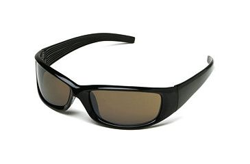 Body Specs Sunglasses V-8 Shiny Black Nylon Frame Smoke Lens V-8 SHINY BLACK SMK13