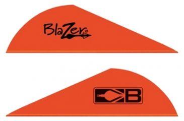 "1-Bohning Blazer Vanes 2"" Solid Neon Red 36pk"