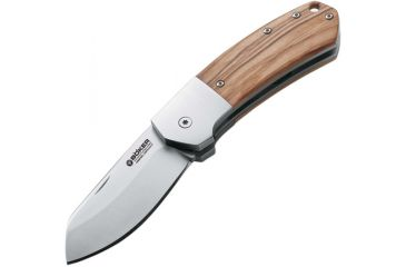 Boker USA Arctos 42, Olive Wood Handle, Plain B-111632