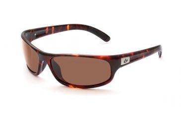 Bolle Anaconda Sunglasses, Dark Tortoise Frame, Polarized A-14 Lens 11432