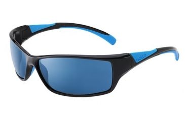 Bolle Bolle Speed Sunglasses, Shiny Black/Blue 11631