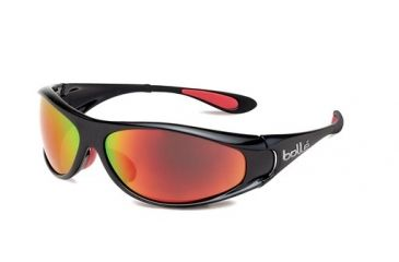 Bolle Bolle Spiral Sunglasses, Shiny Black/Red 11705