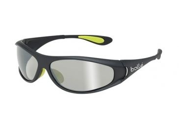 Bolle Bolle Spiral Sunglasses, Shiny Black/Green 11706