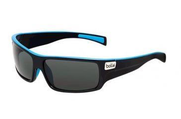 Bolle Bolle Tetra Sunglasses, Shiny Black/Blue Line 11708