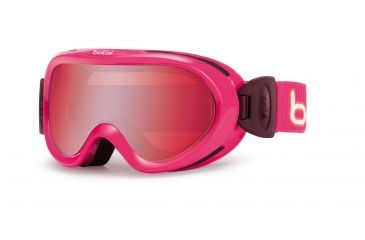 Bolle Boost OTG Kids Ski Goggles - Pink Corduroy  Frame and Vermillon Gun Lens 21024