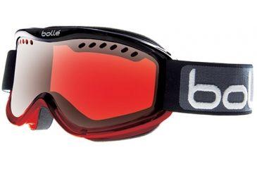 Bolle Carve Goggles, Black/Red Fade Frame, Vermillon Gun Lens 20782