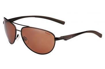 Bolle Columbus Single Vision Prescription Sunglasses, Matte Brown Frame-11797SV