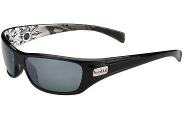 Bolle Copperhead Sunglasses, Polarized TNS Gun Oleo AF, Shiny Black/Silver 11783