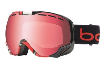 Bolle Emperor Ski/Snowboard Goggles - Black and Red Crackle Frame and Vermillon Gun Lens 20936