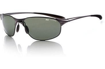 Bolle Aftermath Metal Sunglasses 10566 Shiny Gunmetal Frame w/ Polarized Axis Lenses