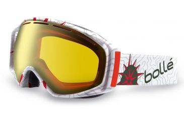 Bolle Gravity Ski/Snowboard Goggles - Athlete Signature Series Pierre Vaultier Frame and Citrus Gold Lens 21041
