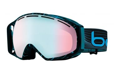Bolle Gravity Ski/Snowboard Goggles - Grey and Blue Waves Frame and Modulator Vermillon Blue Photochromic Lens 20922