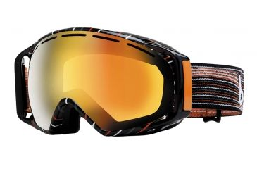 Bolle Gravity Ski/Snowboard Goggles - Grey and Orange Waves Frame and Fire Orange 35 Lens 20923