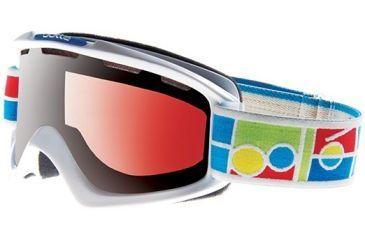 Bolle Nova Goggles, White Frame, Vermillon Gun Lens 20838