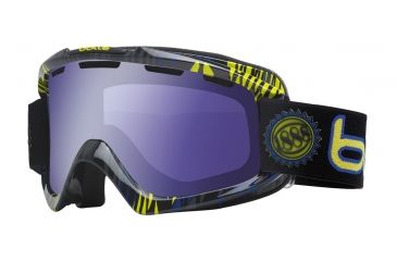 Bolle Nova Ski/Snowboard Goggles - Blue and Green Zebra Frame and Aurora Lens 20955