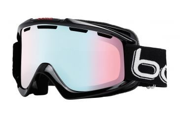 Bolle Nova Ski/Snowboard Goggles - Shiny Black  Frame and Modulator Vermillon Blue Photochromic Lens 20953