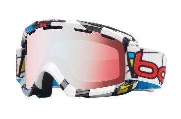 f15c4e580b4 Bolle Nova Ski Snowboard Goggles - Tiki Mondrian Frame and Modulator  Vermillon Blue Photochromic Lens
