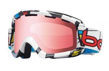 Bolle Nova Ski/Snowboard Goggles - Tiki Mondrian Frame and Vermillon Gun Lens 20961