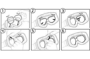 Instructions - inserting the Rx adapter into Bolle Ski Goggles