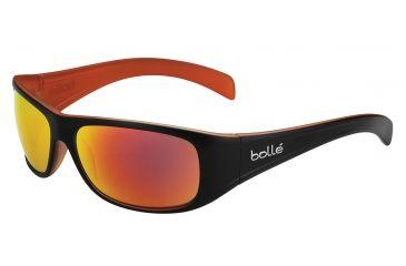 Bolle Sonar Single Vision Prescription Sunglasses, Matte Black/Orange Frame-11811SV