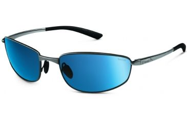 Bolle Sunglasses, Del Mar Satin Silver Frame Polarized GB-10 Lens 11563
