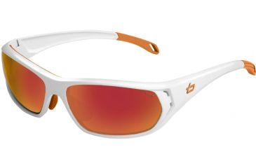 Bolle Sunglasses, Ouray Shiny White Frame TNS Fire Lens 11543