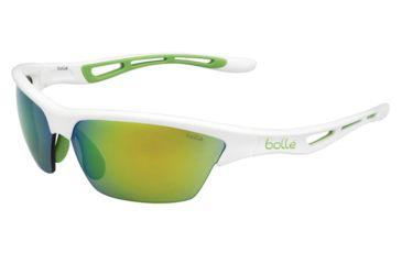 Bolle Tempest Sunglasses, Modulator Green Emerald Oleo AF, Shiny White Green Edge 11819