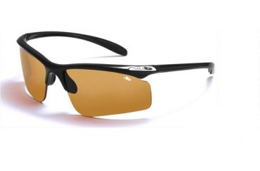 Bolle Warrant Interchangeable Lens Sunglasses, Frames and Lenses Bolle Warrant Sunglasses - Shiny Black Frame, EagleVision 2 Dark Lens 10900