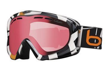 Bolle Y6 OTG Ski/Snowboard Goggles - Orange Tiki Mondrian Frame and Vermillon Gun Lens 20971