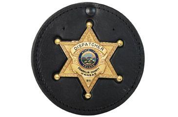Boston Leather Badge Holder - 600-SWS616