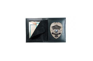 Boston Leather Book Style Badge Case Recessed - 100-5050