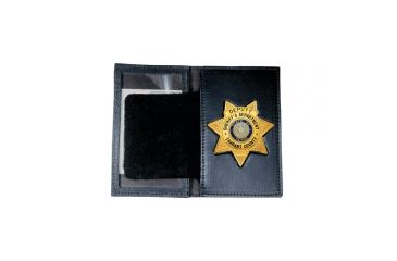 Boston Leather Book Style Badge Case With Ove - 110-S-5051