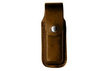 Boston Leather Clip Pouch, Single, Double Sta - 5600-1-B-CORD