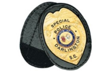 Boston Leather Oval Recess. Badge Holderclip. - 700-4115