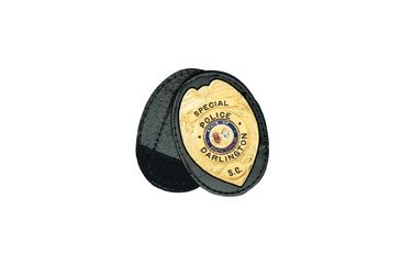 Boston Leather Oval Recess. Badge Holderclip. - 700-4134