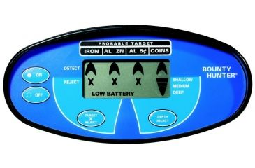 Bounty Hunter Quick Silver Metal Detector with Pin Pointer, Black & Blue QSIGWP