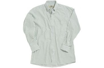 Boyt Hu1580 Broad Cloth Windowpane Shirt White Wgreen Rope Plaid Xl 16002