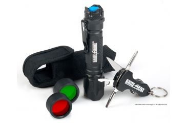 Brite Strike Tactical Blue Dot Flashlight w/ Red & Green Lenses and Multi-Tool