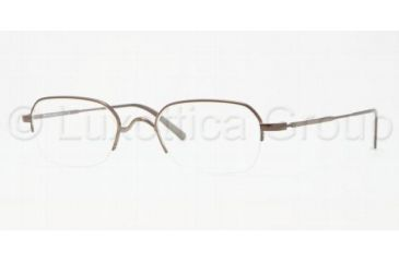 Brooks Brothers BB 1013 BB1013 Progressive Prescription Eyeglasses 1307-4820 - Brown Frame