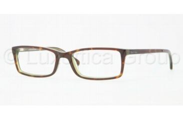 Brooks Brothers BB 2009 BB2009 Progressive Prescription Eyeglasses 6044-5217 - Green Tortoise Frame, Demo Lens Lenses