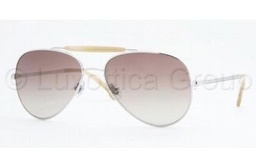 Brooks Brothers BB 475S Sunglasses Styles Silver Frame / Gray Gradient Lenses, 10028G-5816, Brooks Brothers BB 475S Sunglasses Styles Silver Frame / Gray Gradient Lenses